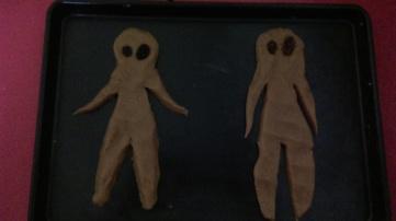 raw gingerbread men