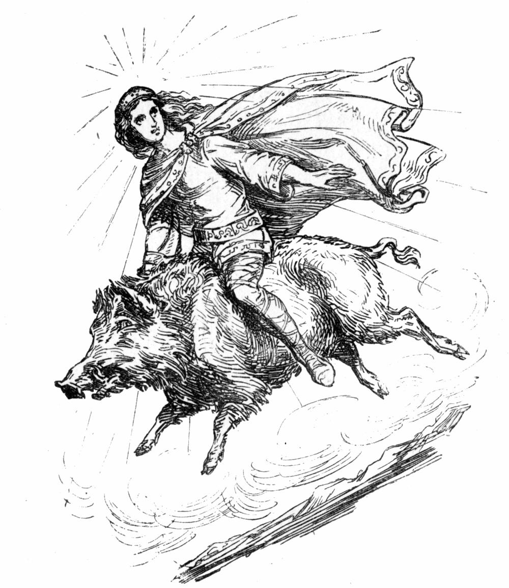 Freyr_riding_Gullinbursti