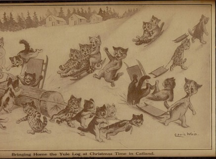 Louis_Wain_Catland_Yule_Log
