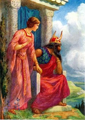 Odin_and_Frigga_by_Harry_George_Theaker_1920