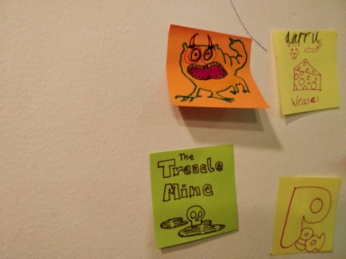 treacle_mine_post-it-art