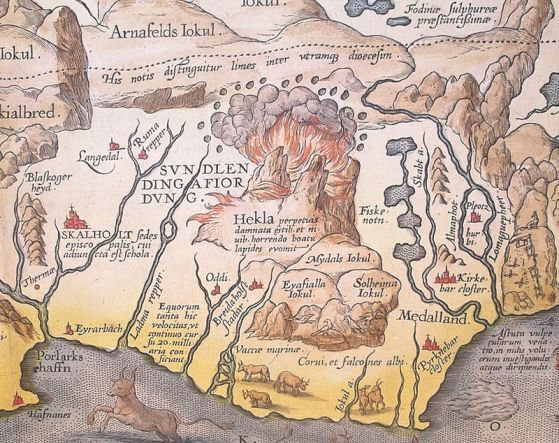 Hekla_(A._Ortelius)_Detail_from_map_of_Iceland_1585